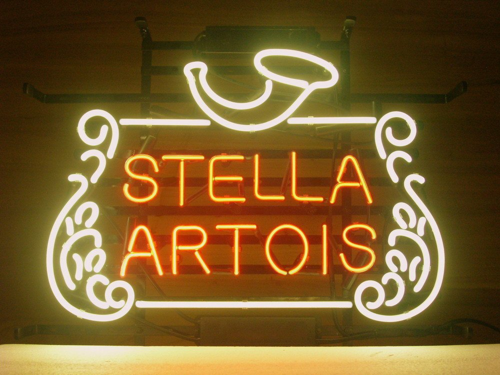New stella artois belgian lager neon light sign home beer bar pub new stella artois belgian lager neon light sign home beer bar pub recreation room game room windows garage wall sign 17wx 14h amazon mozeypictures Image collections