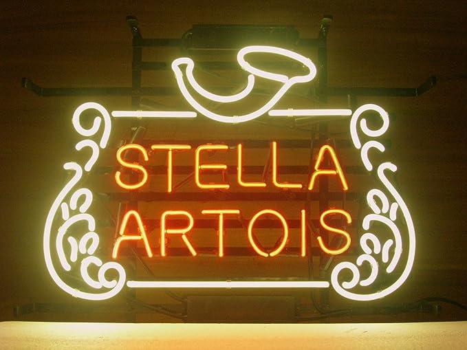 New Stella Artois Belgian Lager Neon Light Sign Home Beer Bar Pub
