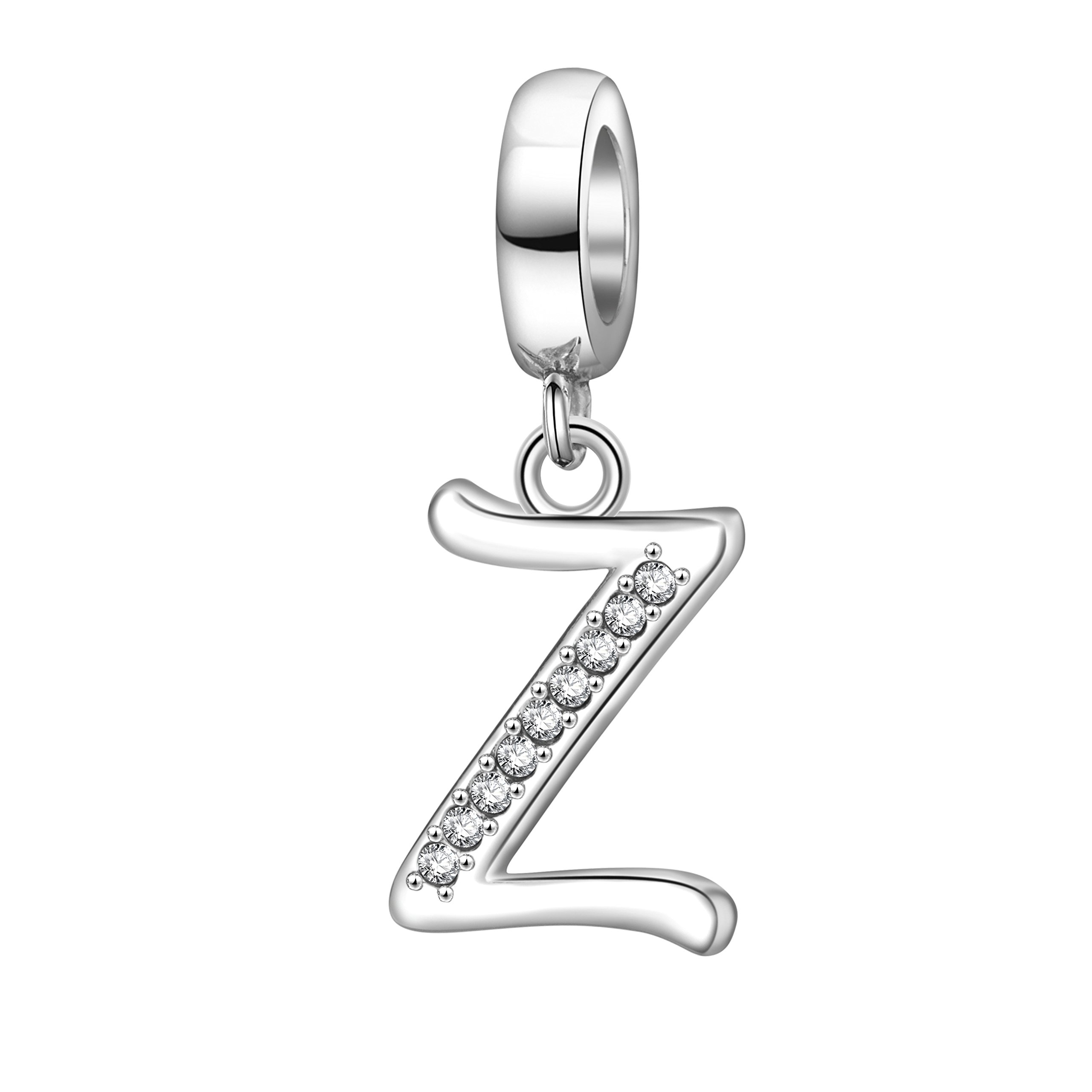 Hoobeads-Alphabet-Letter-Charms-Solid-925-Sterling-Silver-Letter-Initial-A-Z-Crystal-Charms-Bead-for-Bracelet-Necklace