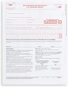 1096 Transmittal 2020 Tax Forms, 25 Pack of 1096 Summary Laser Forms, Compatible with QuickBooks and Accounting Software