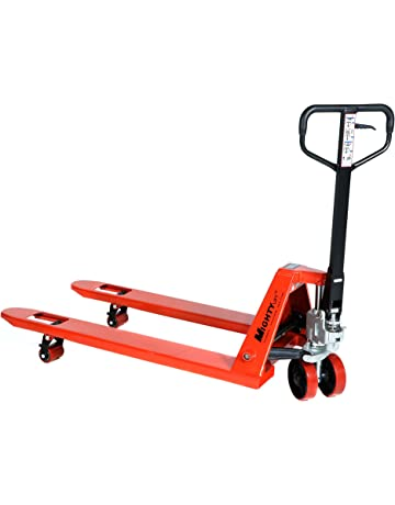 Mighty Lift ML55C Heavy Duty Pallet Jack Truck, Wheels, Polyurethane on Steel, 50