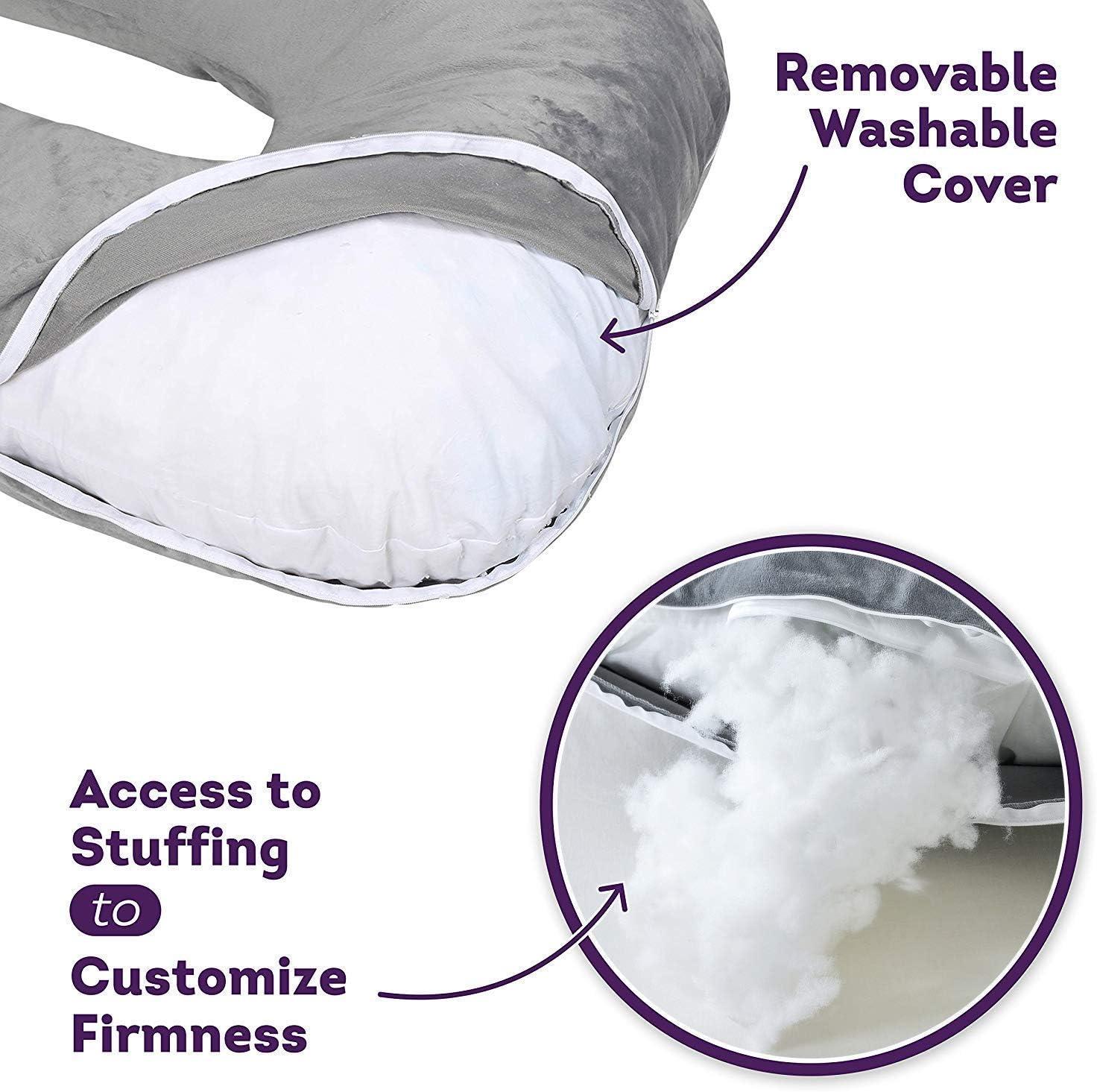 Dream night U-f/örmiges Schwangerschaftskissen Lagerungskissen mit Abnehmbarem und Waschbarem Bezug