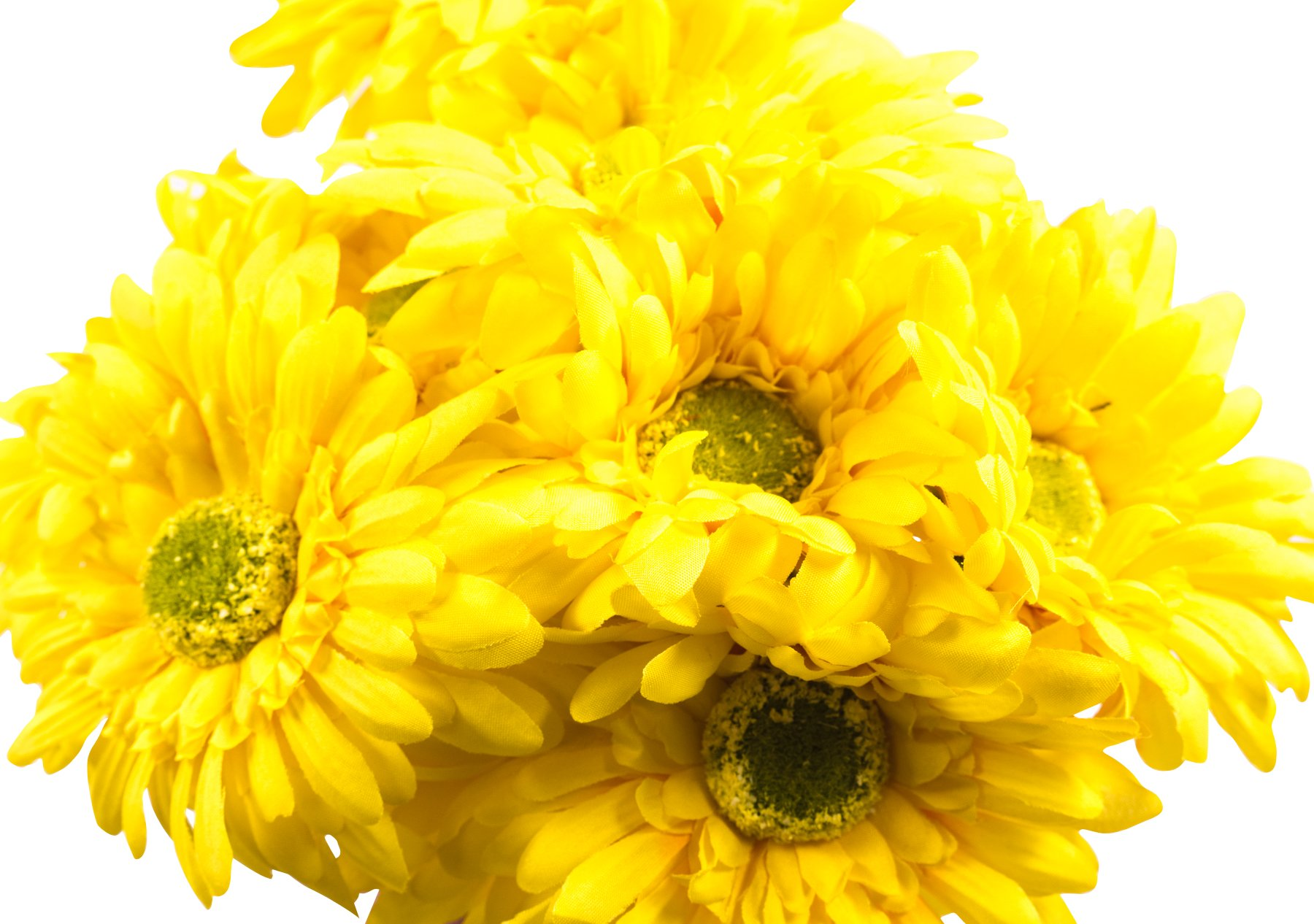 silk flower arrangements craftmore yellow colored gerbera daisy stems 14 inch set of 12