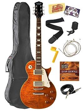 Oscar Schmidt oe20-qte Vintage estilo Cutaway Guitarra eléctrica paquete con bolsa de concierto,