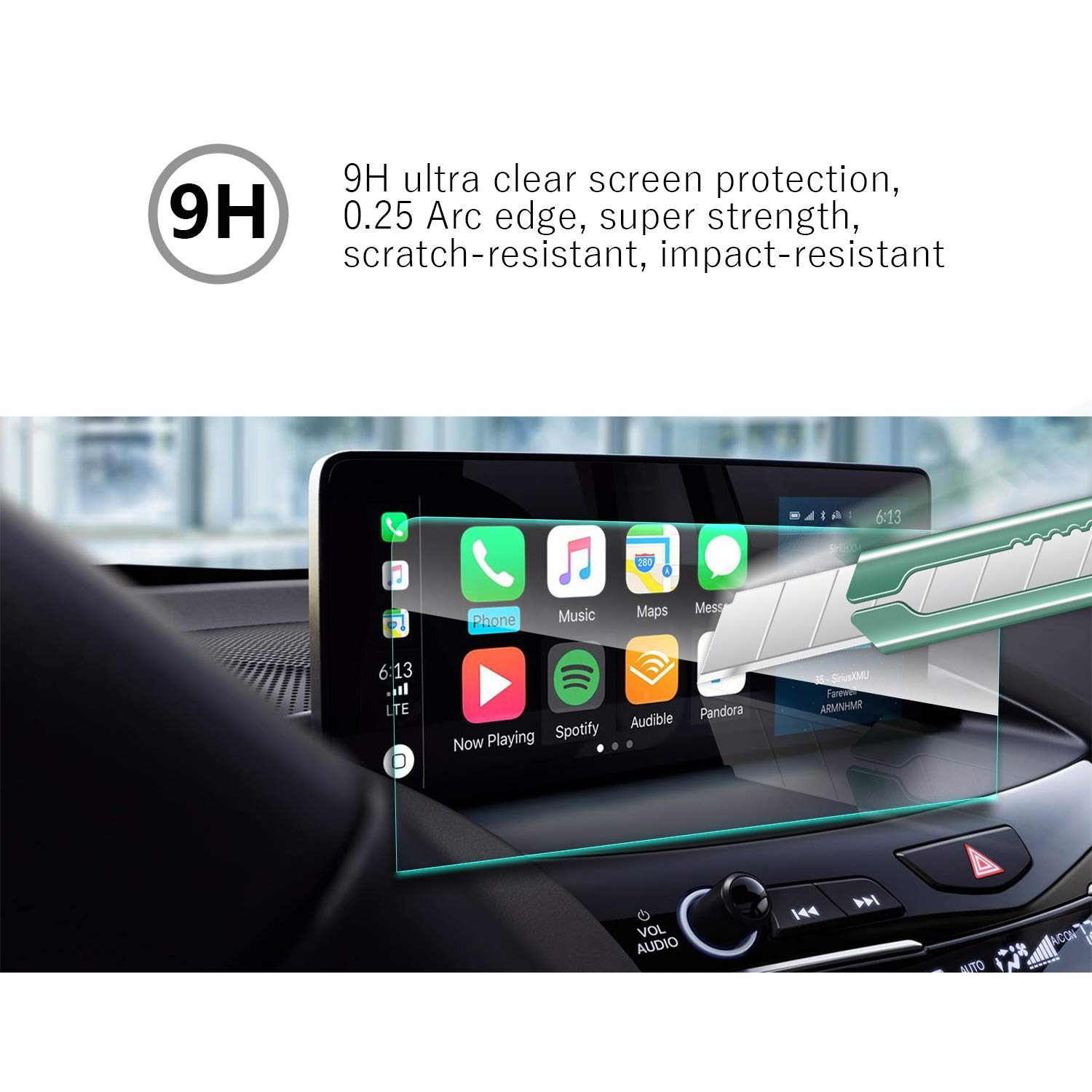 Easy to Clean High Definition Anti-Explosion Scratch Resistance Screen Protector YEE PIN 2019 Acura RDX 10.3Inch Navigation Protector