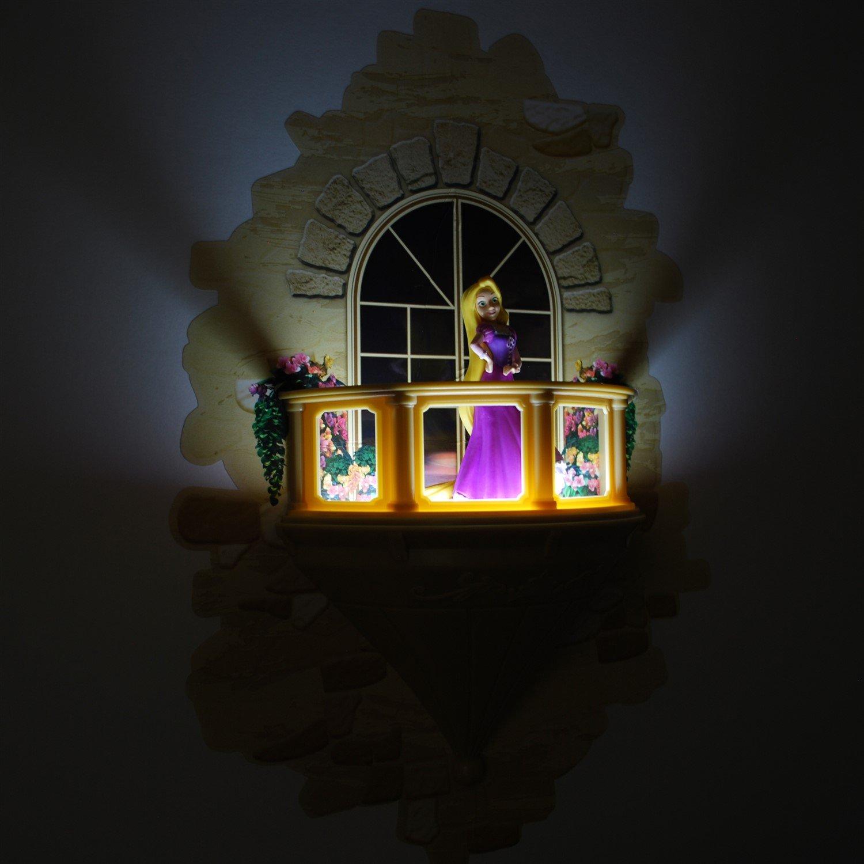 3DLightFX Disney Rapunzel Princesa 3D Lámpara de Pared | Con Vinilos | Luz Nocturna con Apagado Automático | Funciona con Pilas | Niños Lámpara [Clase de eficiencia energética A++] GG0620
