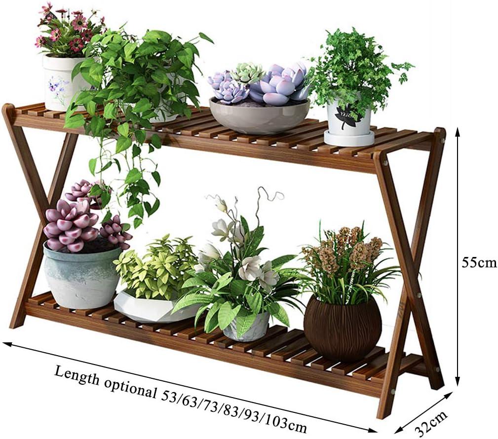GYX-Ablagen Blumenregal aus Holz Balkonregal Praktischer Pflanzenst/änder Abtropfgestell Pflanzgef/ä/ßhalter Verschiedene Gr/ö/ßen
