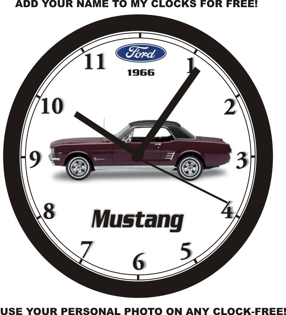 Amazon com 1966 ford mustang maroon coupe wall clock free usa ship home kitchen