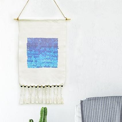 Amazon.com: Macrame Woven Wall Hanging, KLOLKUTTA Gray Bohemian ...