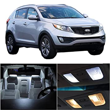 2017 Kia Sportage Accessories >> Cciyu 13 Pack White Led Package Kit Led Interior Lights Accessories Replacement Parts Replacement Fit For 2011 2017 Kia Sportage
