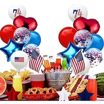 Balloon Set for American Independence Day Emulsion Decorative Balloon