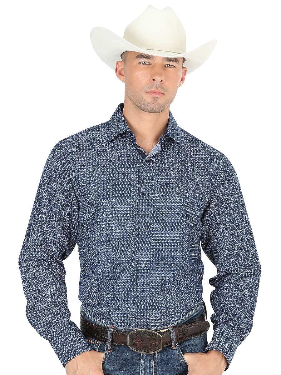 Camisa Casual Shirt L//Sleeve El General 100/% Polyester ID 40390 CS1 Navy Blue
