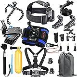 HAPY Sports Action Professional Video Camera Accessory Kit for GoPro Hero6,5 Black, Hero Session,HERO 6,5,4,3,3+, GoPro Fusion,SJCAM,AKASO,Xiaomi,DBPOWER,Camera