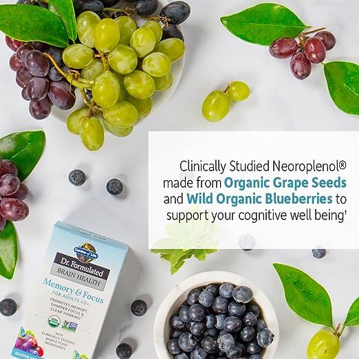 Amazon.com: Garden of Life Dr. Formulado orgánico cerebro ...