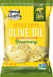 product image for Good Health Kettle Style Olive Oil Potato Chips, Rosemary, 5-Ounce Bags (Pack of 12)