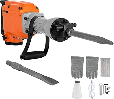 Amazon.com: Küchenks Electric Demolition Hammer 2200W Electric Hydraulic  Cylinder Hammer Breaker Powerful Demolition Hammer Drill with 360° Rotary  Ergonomic Handle for Concrete: Home & Kitchen