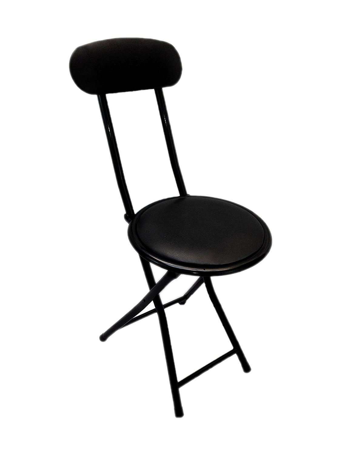 Amazon.com Portable Small Black Folding Chair Padded with Lock Mechanism Easy Storage and Stackable (1) Kitchen u0026 Dining  sc 1 st  Amazon.com : foling chairs - Cheerinfomania.Com