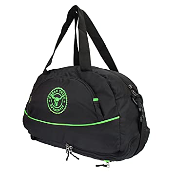 Urban Tribe Barcelona Travel Duffel Cum Gym Bag With Separate Shoe Compartment Black Green