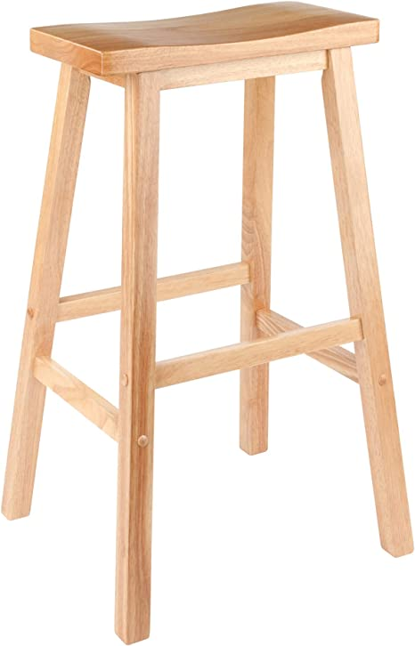 Amazon Com Winsome 84089 Satori Stool 29 Natural Furniture Decor