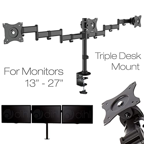 Mount It Triple Monitor Desk Mount With Two Articulating