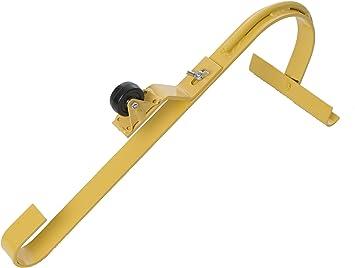 Heavy Duty Roof Ridge Ladder Hook Adjustable Swivel Design w// Steel Wheel NEW