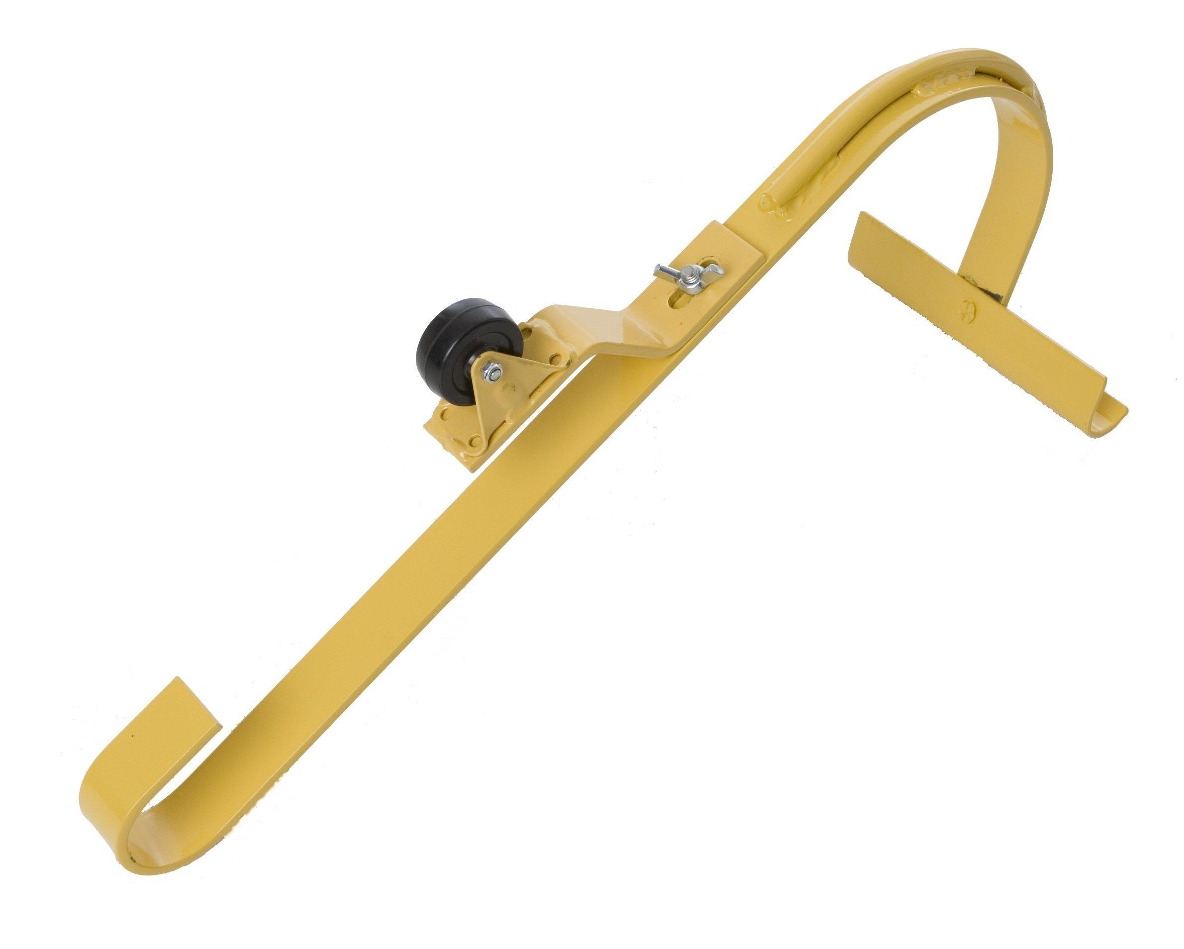 Roof Ridge Ladder Hook With Fixed Wheel & Swivel Bar