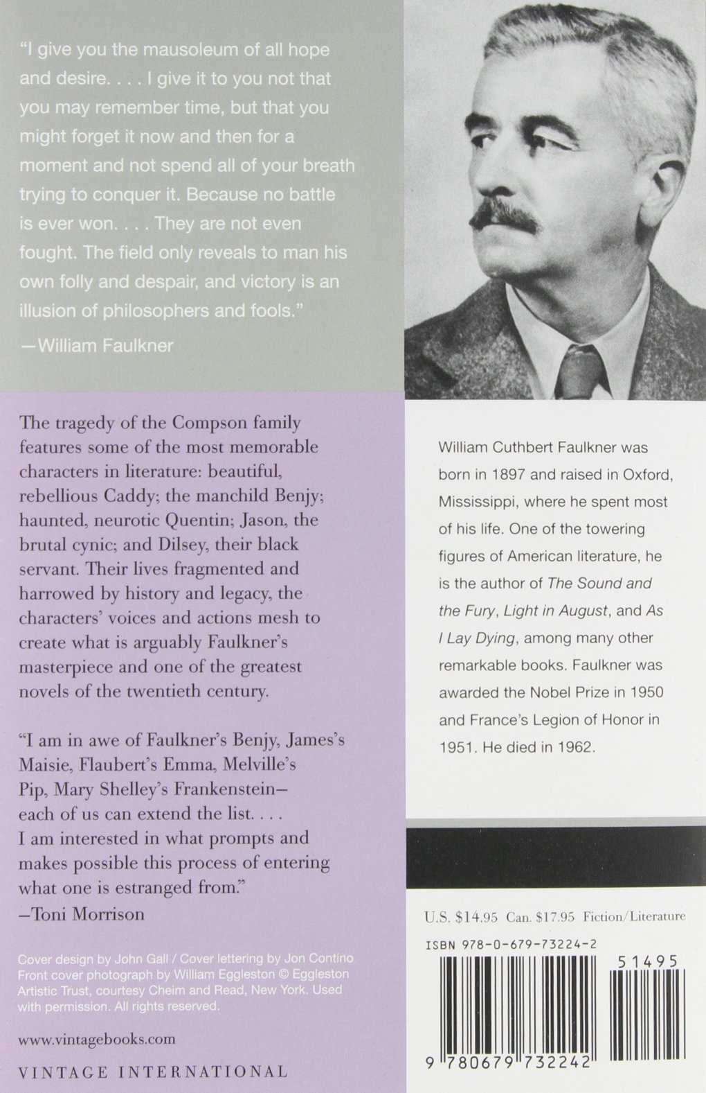 The Sound And The Fury: The Corrected Text: William Faulkner:  8601410801960: Amazon: Books