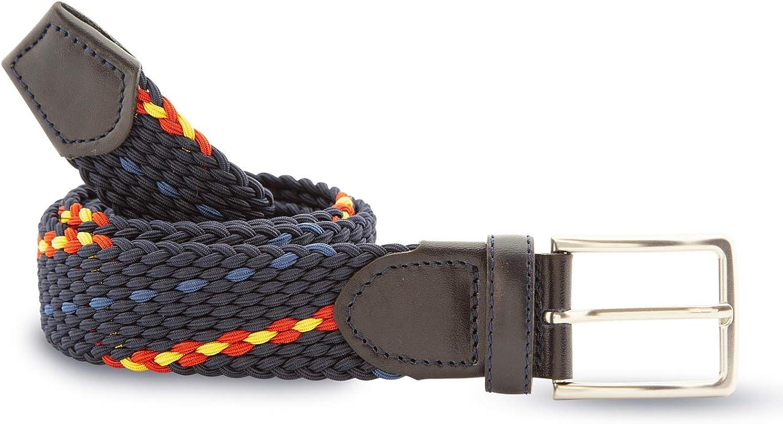 Cencibel Smart Casual Cinturón Elástico Azul Marino Bandera España: Amazon.es: Ropa y accesorios