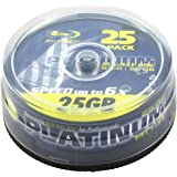 Platinum 25GB BD-R Blu-ray Rohlinge (6x Speed) in 25er Spindel