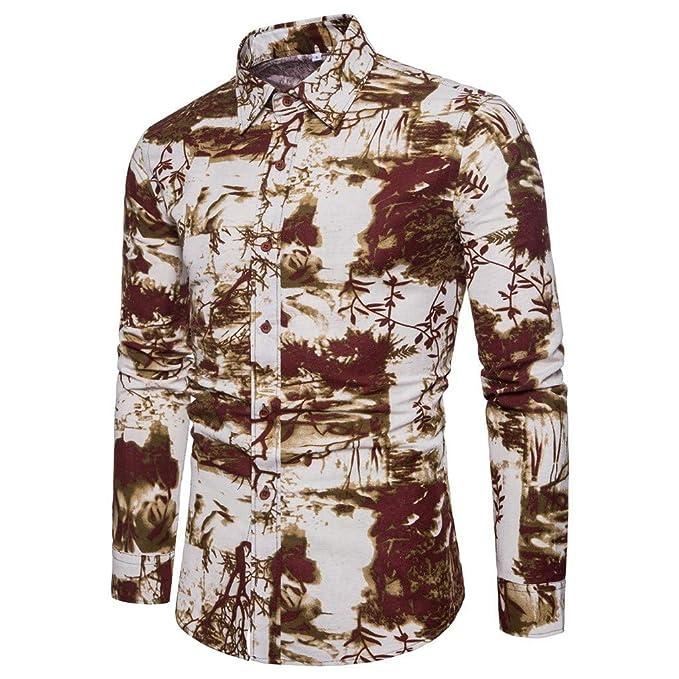 AG&T⊙◡⊙ T Shirt a Maniche Lunghe da Uomo, Moda Manica