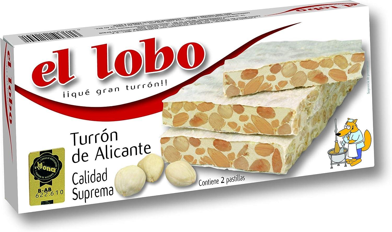 Turrón De Alicante El Lobo 250G: Amazon.es: Alimentación y bebidas
