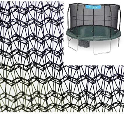 JumpKing 15 Enclosure Net for 4 Poles for 7 Springs with JK Logo Black