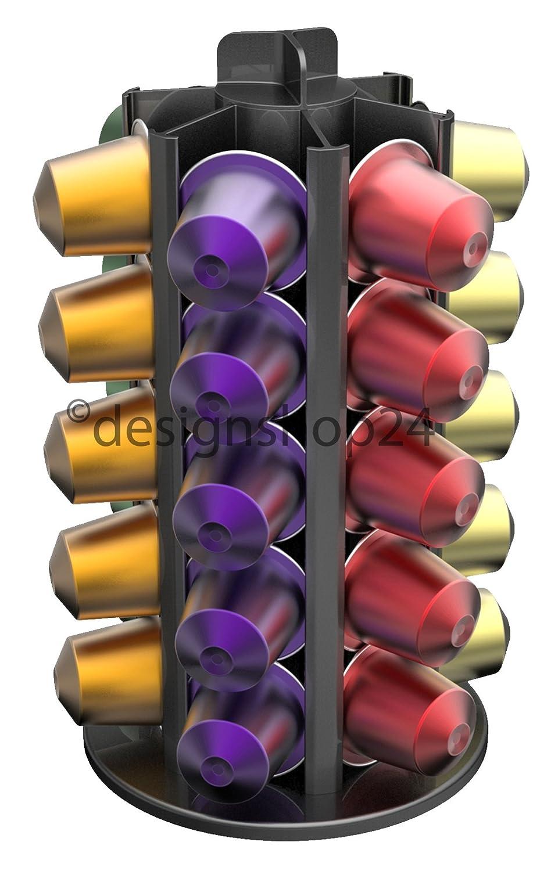 TavolaSwiss aluminio 30/dispensador de c/ápsulas para 30/C/ápsulas de Nespresso/ /Extra Bajo 360//° giratorio