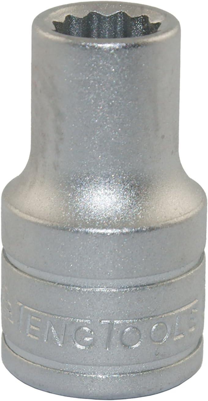 3//8 /& 1//2 Inch Drive Metric /& SAE Regular//Shallow /& Deep Socket Set Teng Tools 111 Piece 1//4 TM111