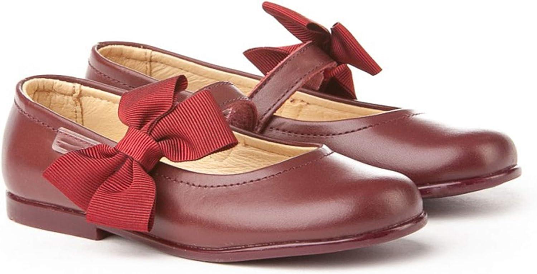 Bailarinas de niña Hechas de Piel. Zapatos Tipo francesitas Hecho en España. Mi Pequeña Modelo 519I Color Burdeos.: Amazon.es: Zapatos y complementos