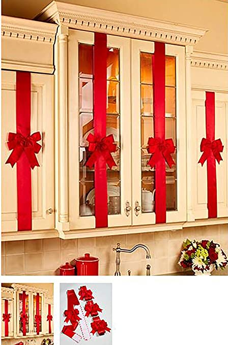 Amazon Com Decorative Holiday Kitchen Cabinet Ribbons With
