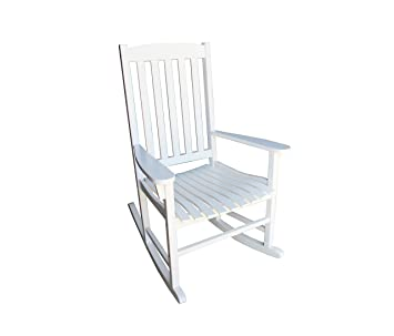 amazon com amayo home solid eucalyptus rocking chairs in white