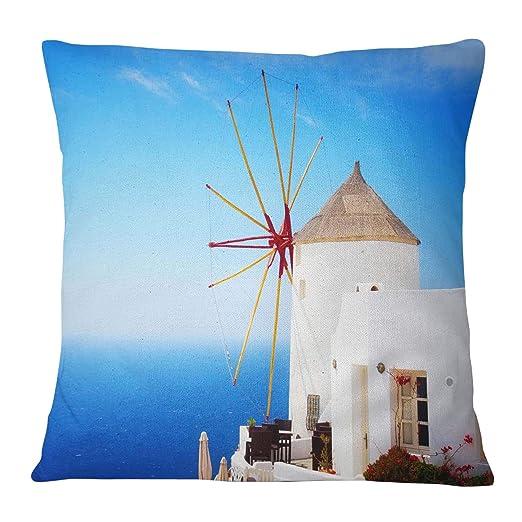 Timingila Azul Satin Fundas de colchón Antigua Grecia Molino ...