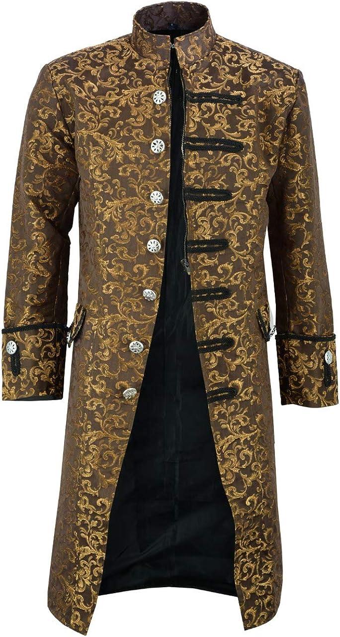 Darkrock Prime Quality Mens Jacket Velvet Goth Steampunk Victorian Frock Coat Handmade/USA