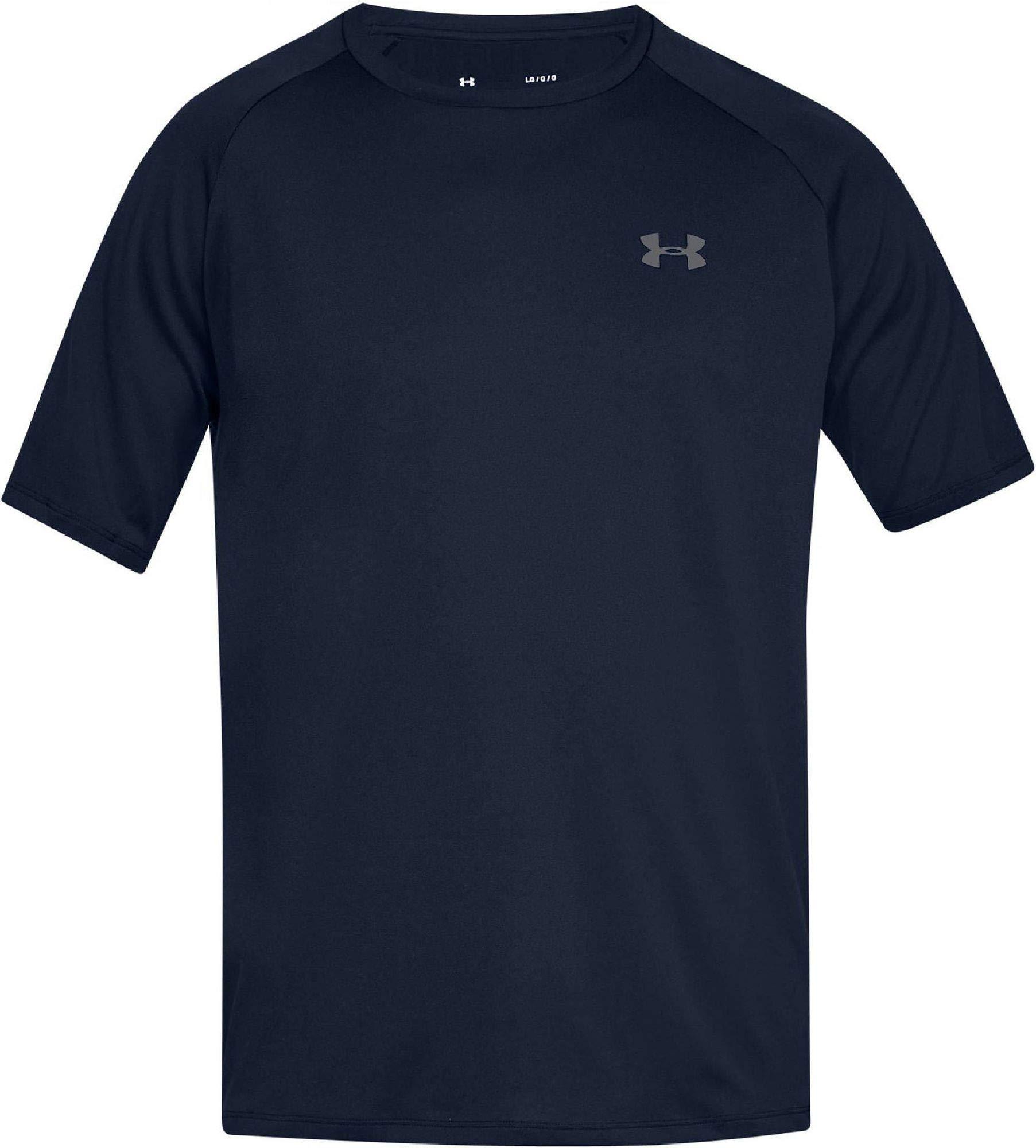 Under Armour Men's UA Tech Short Sleeve Tee 2.0, Academy/Graphite, XS-R