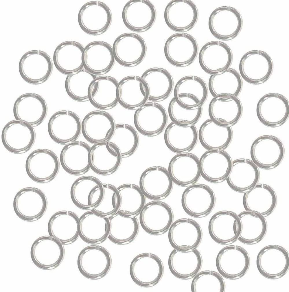 Rockin Beads 400 Jump Rings Silver-plated Brass 7mm Round 18 Gauge 5mm Chain Links