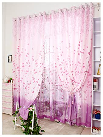 Amazon.com: Simple Curtain Screens Pastoral Style Bay Window ...