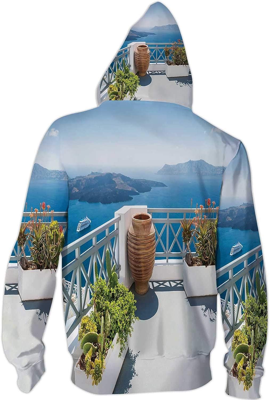 C COABALLA Colorful with a Bee,Mens Print 3D Fashion Hoodies Sweatshirts S