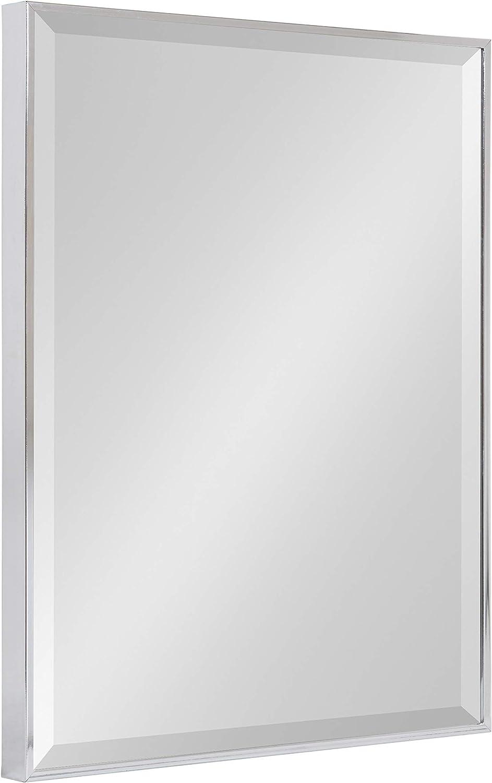 Black 28.75x28.75 Kate and Laurel Rhodes Modern Octagon Mirror