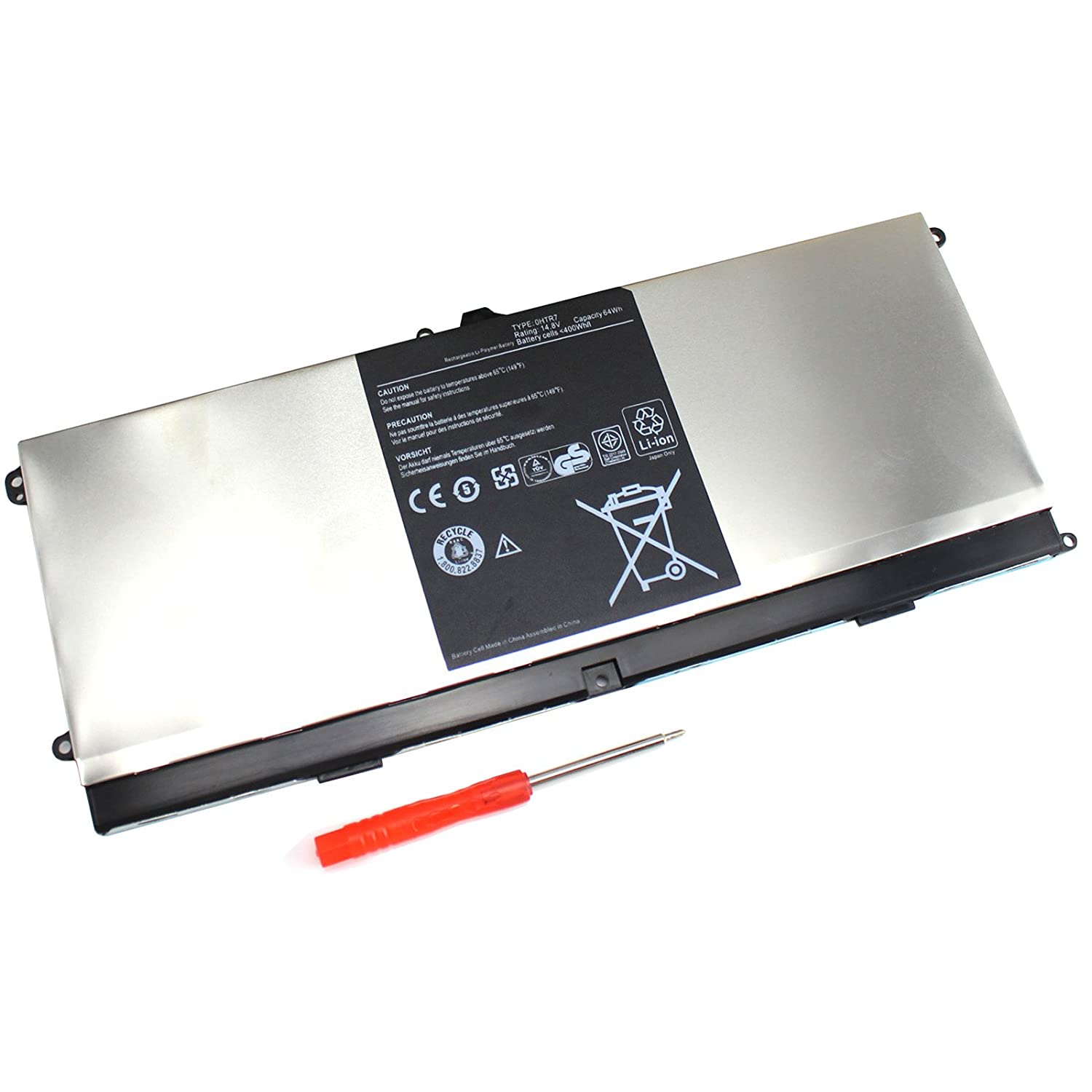 Amazon.com: ROCKETY New XPS 15Z 8cell Laptop Battery for Dell XPS L511Z  0NMV5C 0HTR7 NMV5C 075WY2 75WY2 OHTR7 CN-075WY2 - [14.8V 64WH]: Computers &  ...