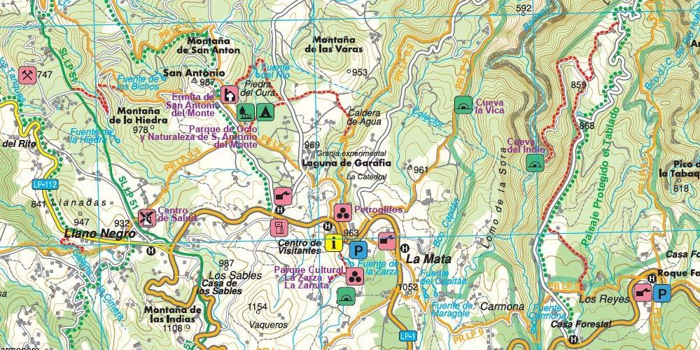La Palma, mapa excursionista WKE 2. Escala 1:30.000. Freytag ...