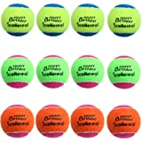 """SCENEREAL Squeaky Tennis Balls Toys for Dogs Pets Playing and Training 2.5"""" 12 Pcs/Set"""