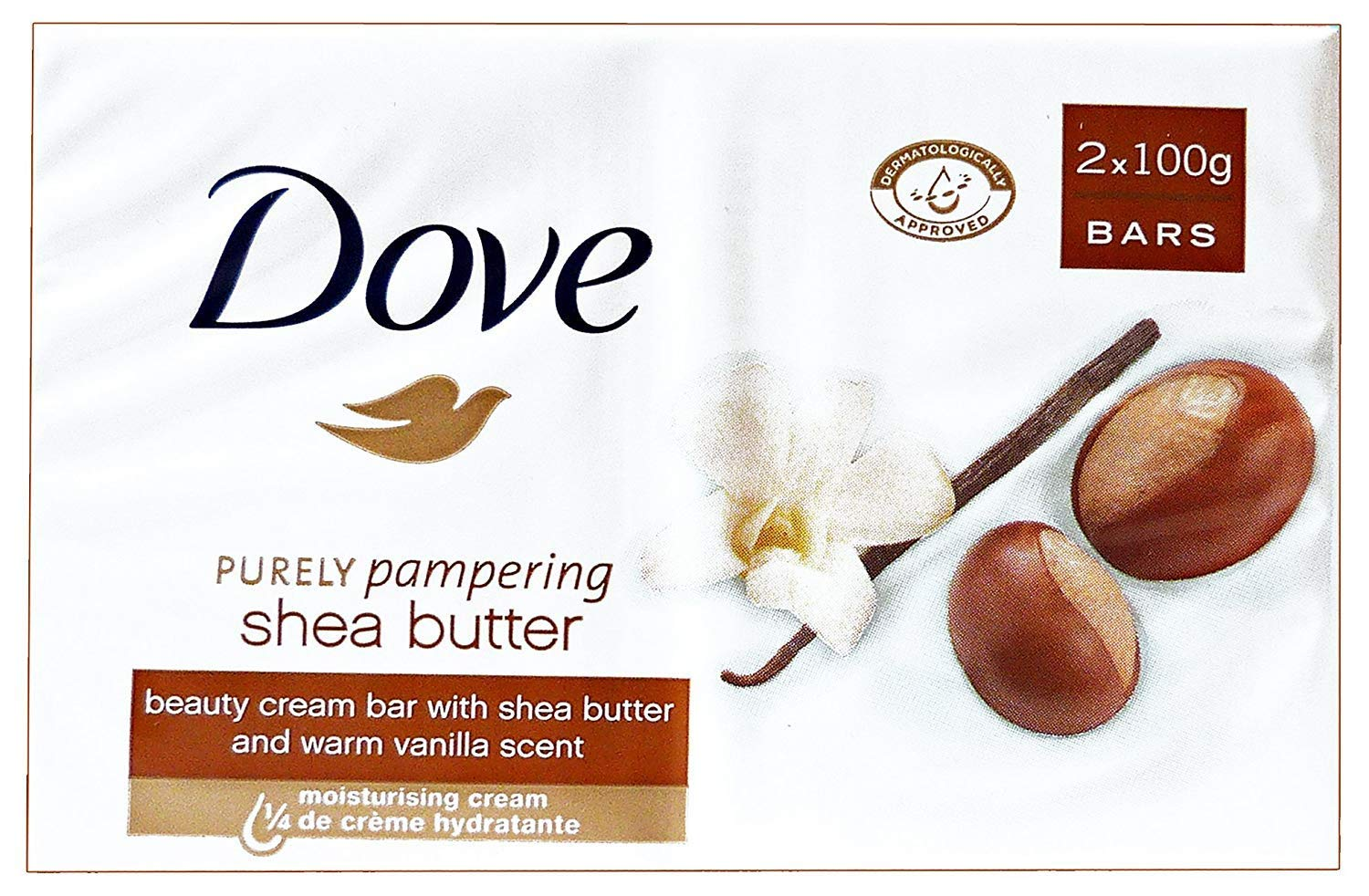 Dove Purely Pampering Shea Butter With Warm Vanilla Scent By Dove for Unisex - 2 X 3.5 Oz Bar Soap, 2count