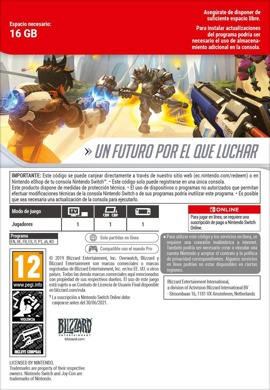 Overwatch Legendary Edition [Switch - Código de descarga] + ...