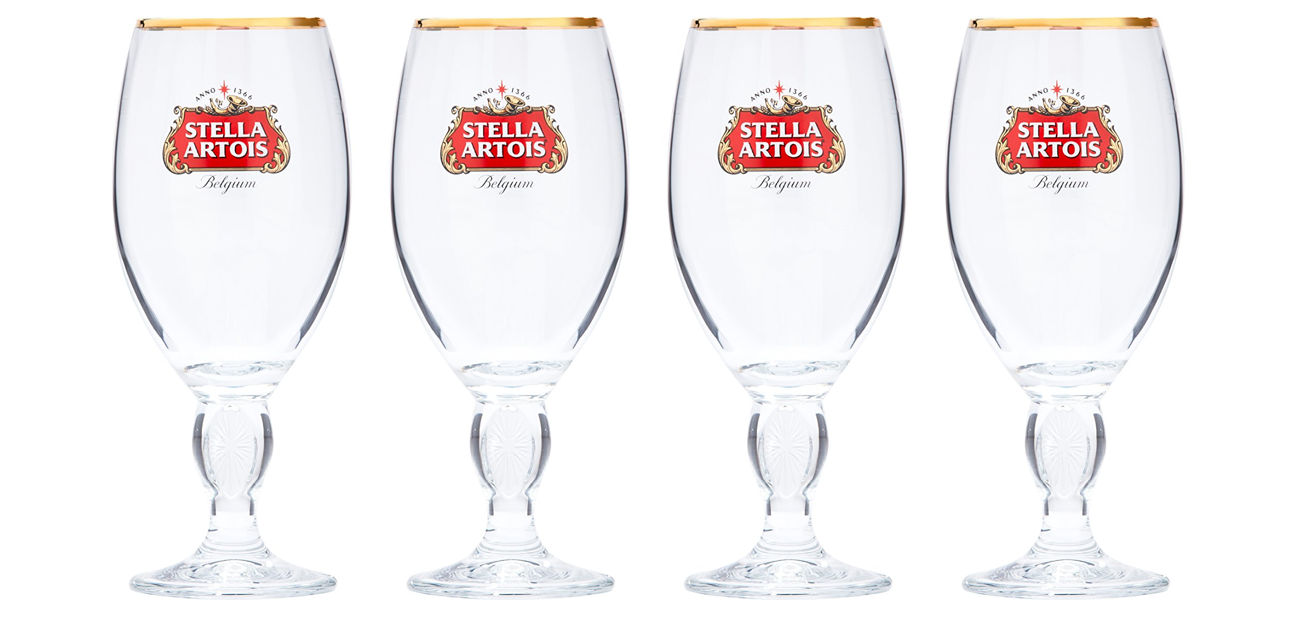 Stella Artois 307414 4-Pack Original Glass Chalice, 33cl